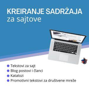 kreiranje sadržaja za sajtove